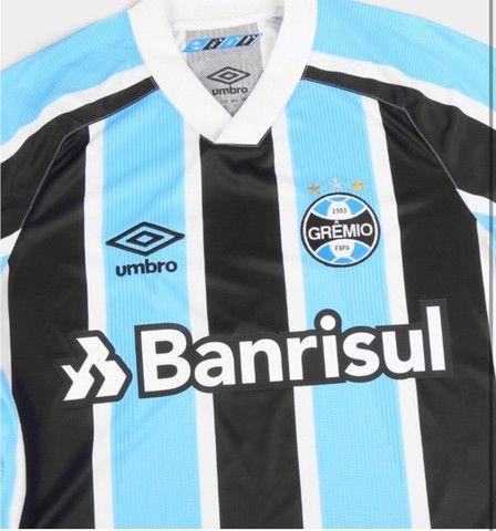 Queima de Estoque Camisa Tricolor do Grêmio 21/22 na Etiqueta nos tam M, G, GG, G2 - Foto 3
