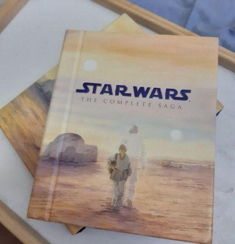Blu-Ray Star Wars Episódios 1 ao 6 mais 3 DVDs com extras