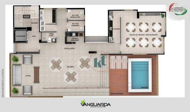 Apartamento com 1 dormitório à venda, 33 m² por R$ 195.000,00 - Jardim Oceania - João Pess - Foto 6