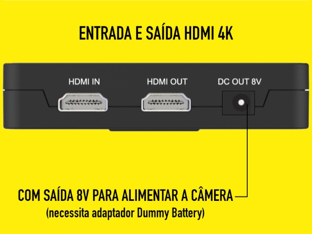 Monitor Feelworld F6 Plus Novo HDMI 4k e tela 1080p - Foto 4