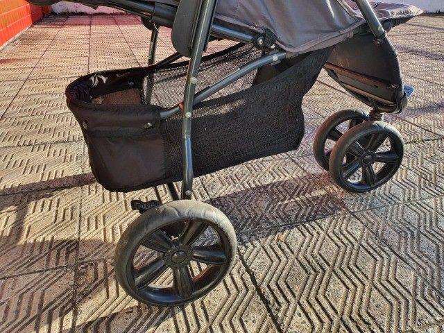 carrinho de bebê - marca abc design - cinza - otimo estado - Foto 4
