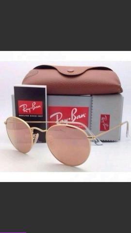 Oculos Raund Rosa lente em cristal UV 400 - Bijouterias, relógios e ... 79b1b6964b