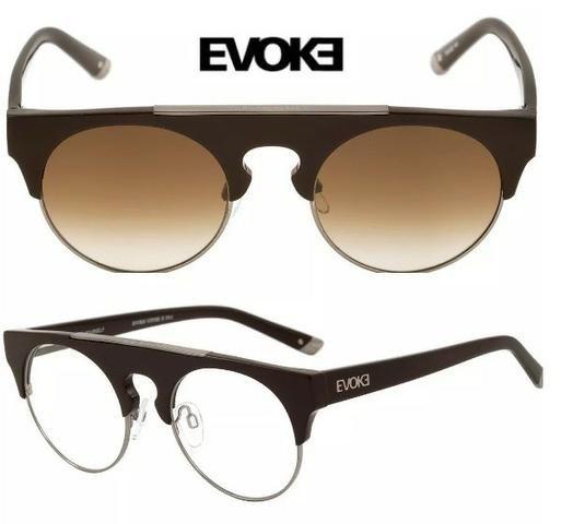 3a299c9995ab3 Óculos Evoke Upper 2 com lentes grau transition e sol 2 em 1 original nota  fiscal