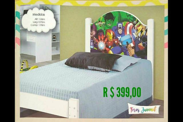 91f282d257 Cama Infantil - Cabeceira Vingadores - Artigos infantis - Goiânia ...