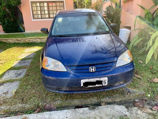Honda Civic 1.7 automático azul