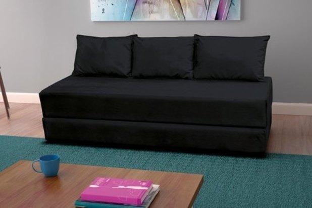 Sofá cama Multifuncional c/3 almofadas - Foto 2
