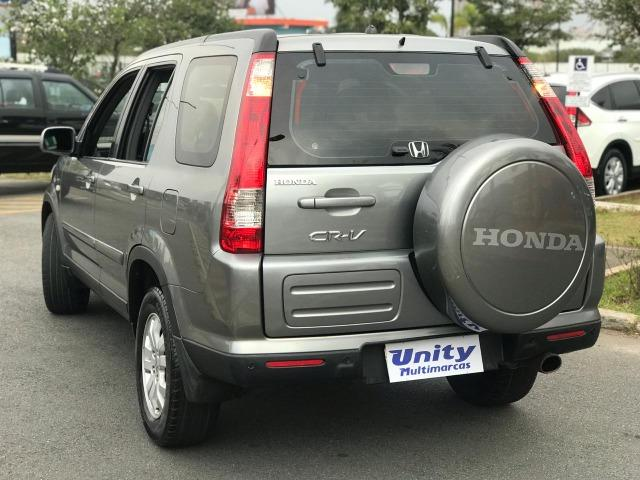 Honda Crv Exl 2.0 Automática Completa + Teto Solar + 4x4 Cor Cinza - Foto 5