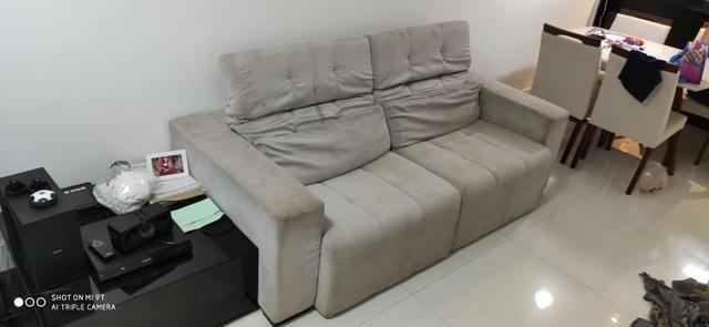 Sofá reclinável com chaise