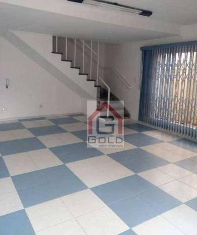 Sobrado com 4 dormitórios para alugar, 250 m² por R$ 4.500/mês - Campestre - Santo André/S - Foto 17