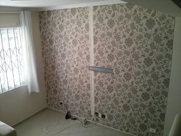 Aplicação de Papel e Tecido de parede