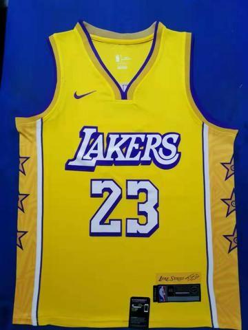 Regata basquete lakers amarela 23 james - Foto 2