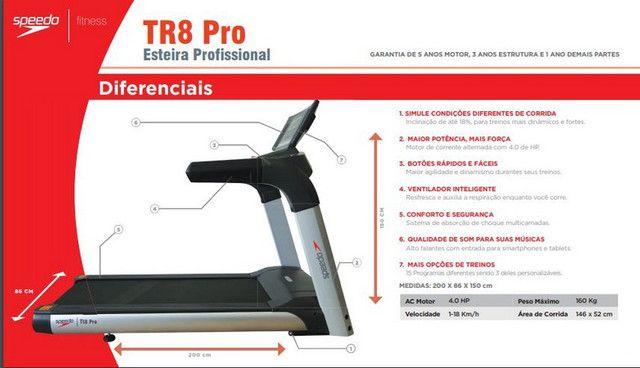 Esteira Profissional Speedo - TR8 Pro - Foto 4
