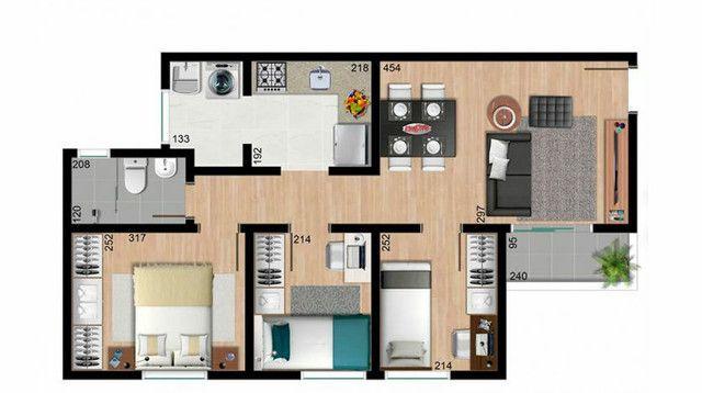 VJP/Três quartos, no Sta Cândida  parcela entrada  - Foto 4