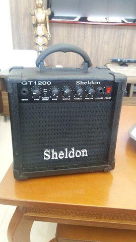 Guitarra Menphis e caixa Sheldon - Foto 6