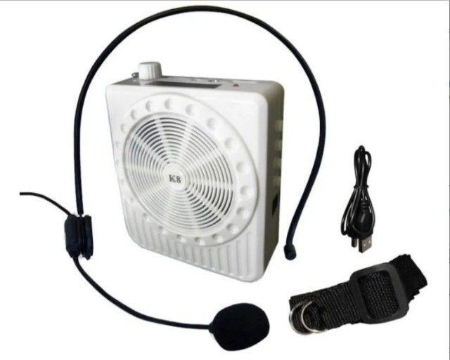 Megafone Portátil  Amplificador Com Microfone K-150 - Potência 5 watts - Foto 3