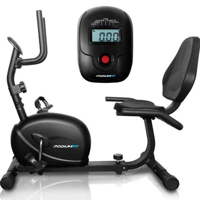 Bike Ergométrica Horizontal Podiumfit h100 até 130kg