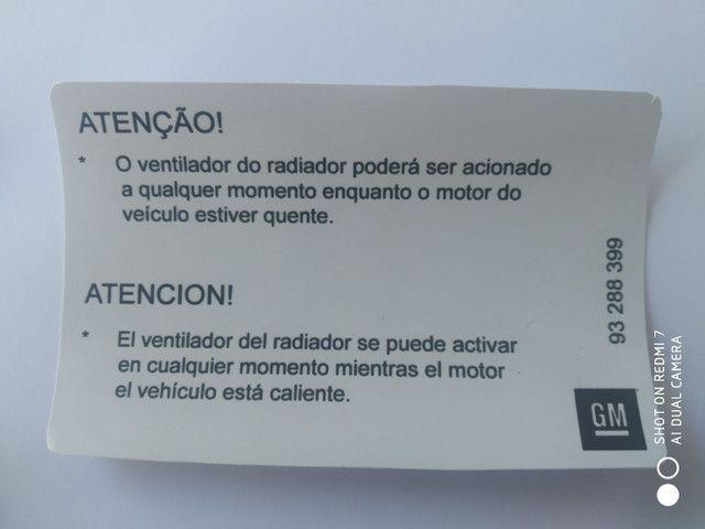 Etiquetas Painel Dianteiro Capô Novo Corsa Montana  - Foto 4