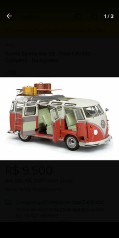 Coleção Samba Bus escala 1/8