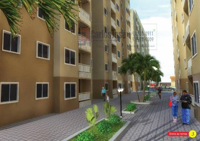 ? Apartamento Novo (Obra) - 2 Quartos 2 vagas -Tabapuá-caucaia