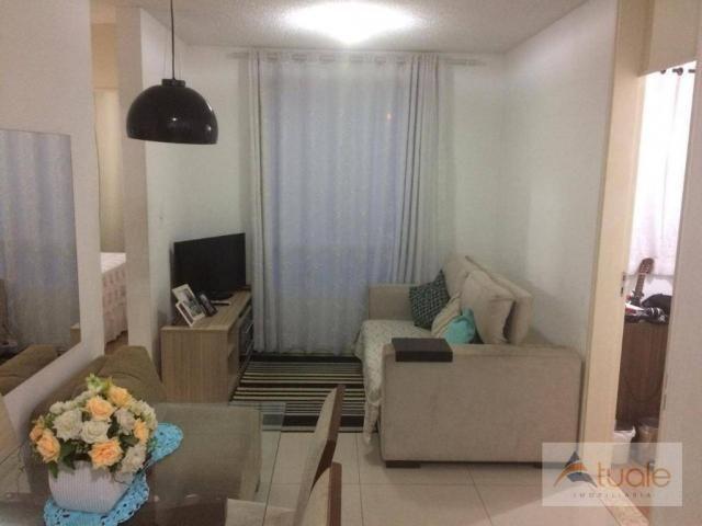 Apartamento com 3 dormitórios à venda, 50 m² - condomínio pitangueiras - hortolândia/sp - Foto 2