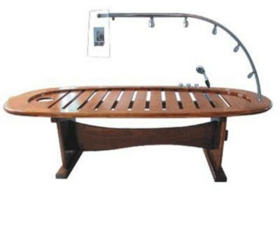 Marquesa de madeira duche vichy