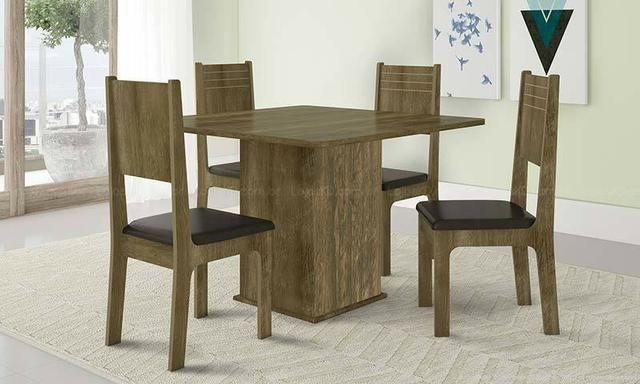 Mesa de Jantar Firenze 4 Cadeiras (frete gratis)