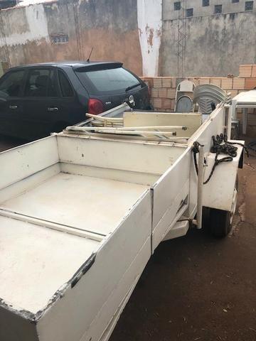 Carretinha reboque trailer sem placa (Leia o anuncio) - Foto 4