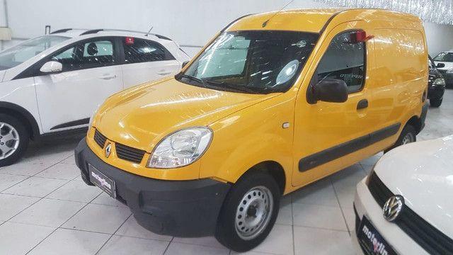 Renault Kangoo Express 1.6 Flex 2012 Amarela Porta Lateral Únido Dono Doc OK - Foto 3