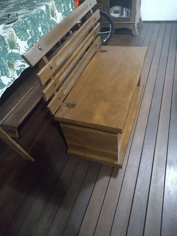Banco , baú madeira maciça. Estado de novo - Foto 2