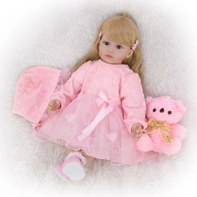 Boneca Bebê Reborn 60cm - Foto 3