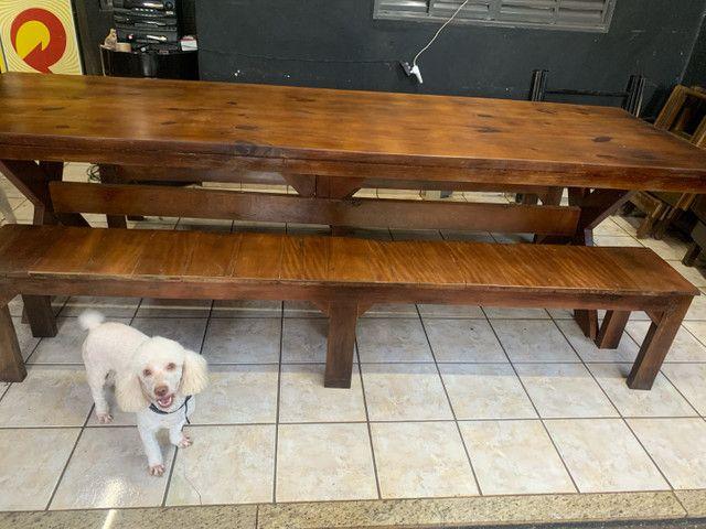 Vende mesa de madeira rústica  - Foto 3