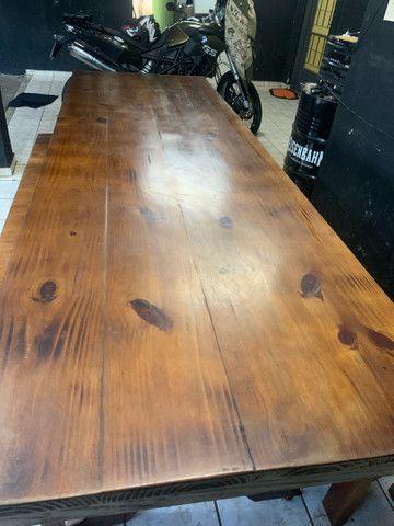 Vende mesa de madeira rústica  - Foto 5