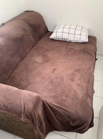 sofá-cama com chaise, usado - Foto 2