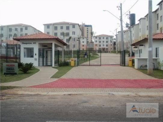 Apartamento com 3 dormitórios à venda, 50 m² - condomínio pitangueiras - hortolândia/sp