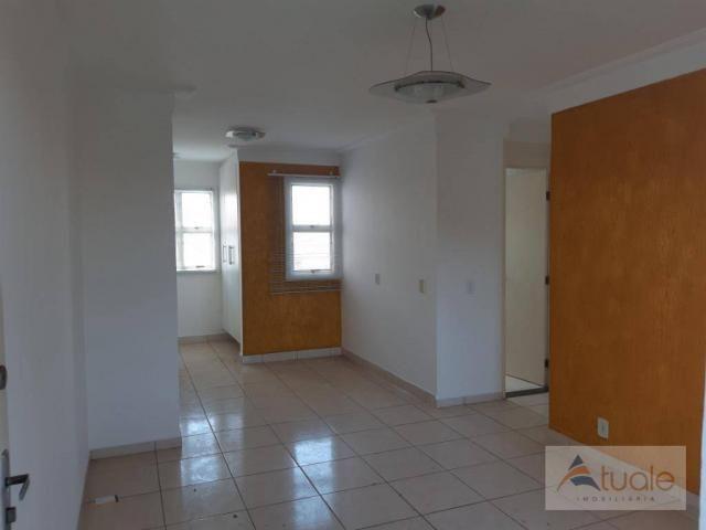 Apartamento com 2 dormitórios para alugar, 46 m² por r$ 1.050,00/mês - parque villa flores - Foto 3
