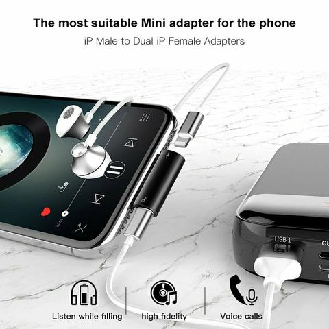 Adaptador Lightning fone + carregador iPhone original baseus - Foto 3