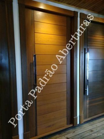 Porta madeira maciça pivotante - Foto 4