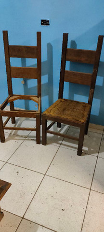 Cadeira para customizar antiga  - Foto 2