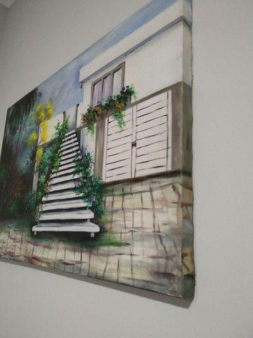 Quadro de tela  pintado mão  - Foto 2