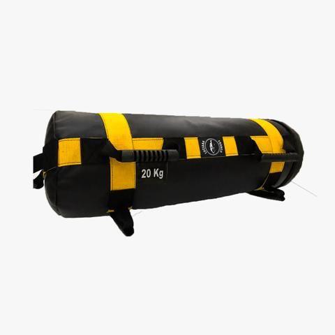 Kit Treino Funcional - Treino em casa - Colchonete + Elástico + Sandbag (Powerbag) - Foto 4