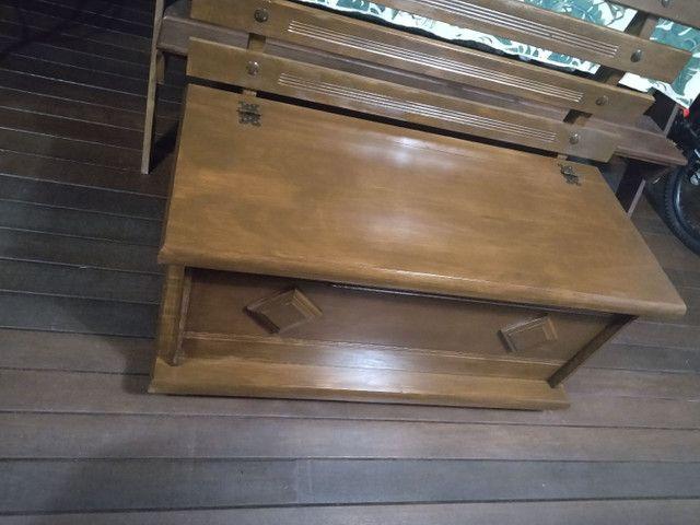 Banco , baú madeira maciça. Estado de novo - Foto 3