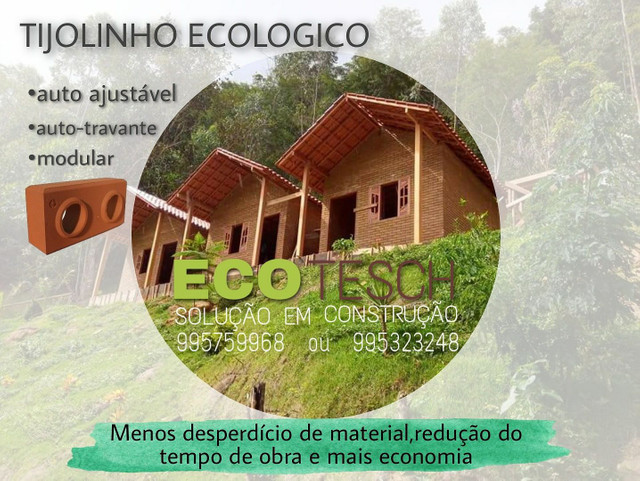 Casa de tijolinho ecologico de 350 a 450m3