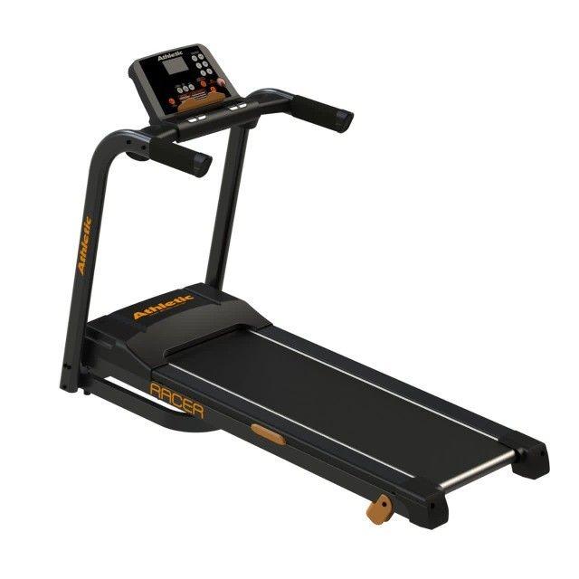 Esteira Athletic racer 16km/h - 130kg - amortecedores externos -com teclas de atalho