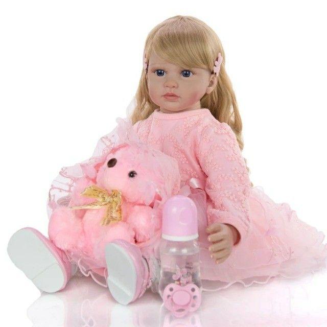 Boneca Bebê Reborn 60cm - Foto 2