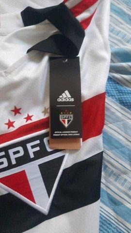 Camisa São Paulo  21/22 s/n° Torcedor Adidas Masculina - Foto 3
