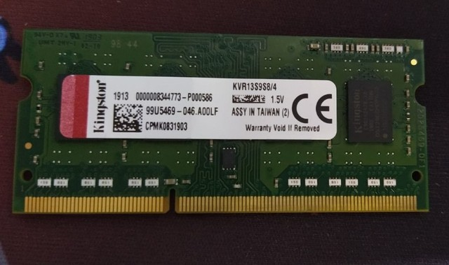 Memoria RAM notebook DDR3 4GB / 4 GB / 1 GB - Processador Pc Intel 775