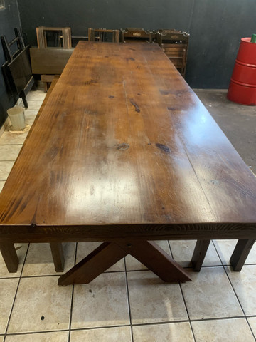 Vende mesa de madeira rústica  - Foto 2