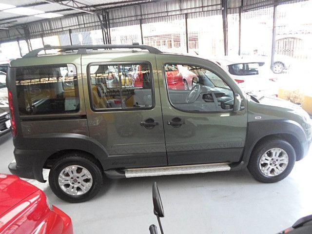 Fiat - Doblo Adventure Xingu 2013 Verde 6 Lugares Completo - Foto 8