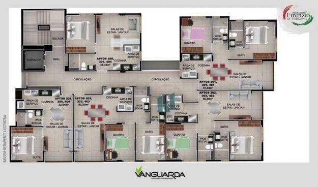 Apartamento com 1 dormitório à venda, 33 m² por R$ 195.000,00 - Jardim Oceania - João Pess - Foto 4
