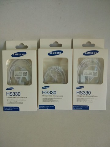Kit 3 Fones De Ouvido C/ Microfone Samsung Hs330 Branco